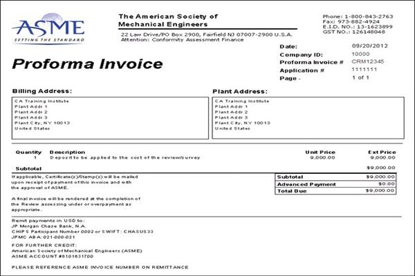 Proforma Invoice bao gồm các điều khoản của giao dịch thương mại